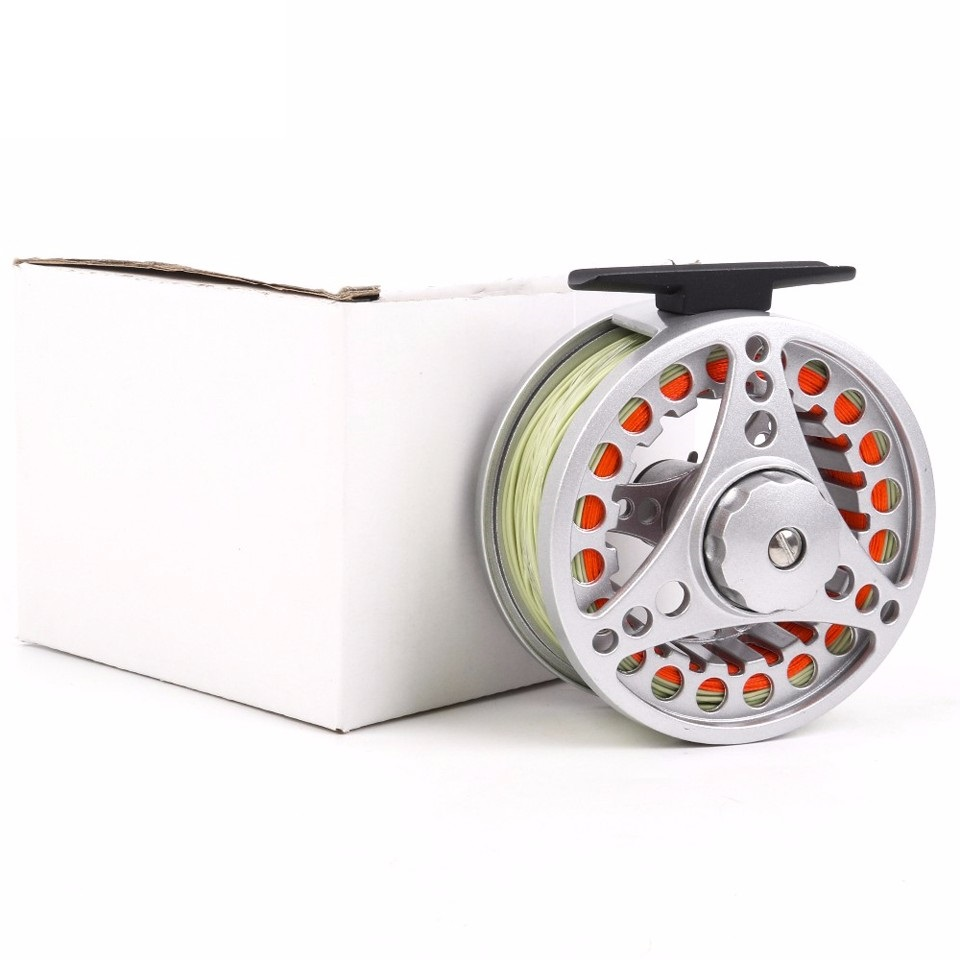 High quality fly fishing reel with fishing line for Fishing line on reel