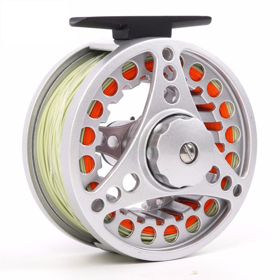 High quality fly fishing reel with fishing line for Best fishing line for spinning reels