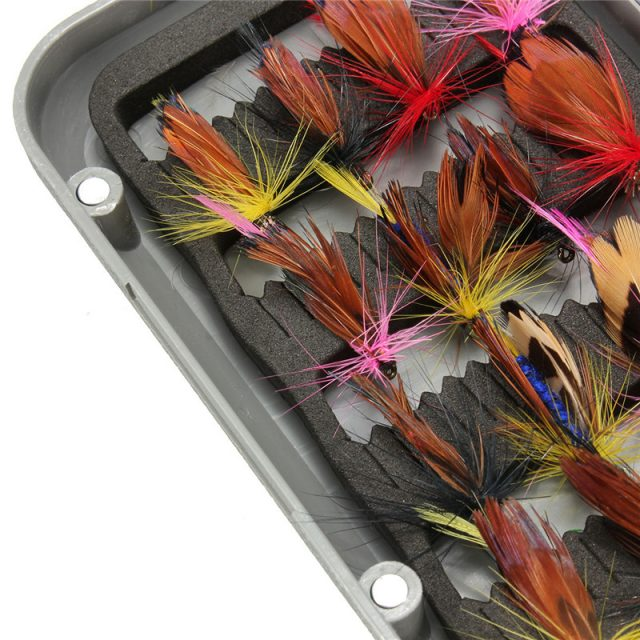 Fly fishing flies lures with tackle box | 32 pcs lures | On Sale