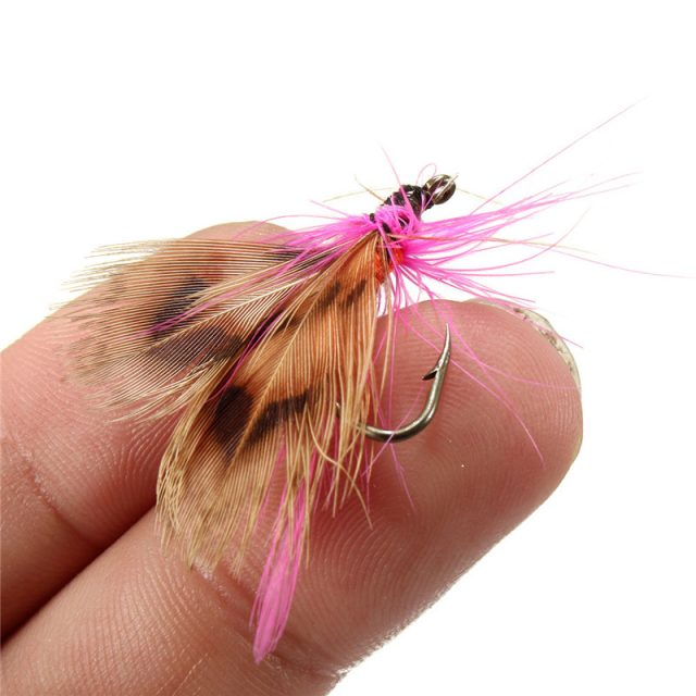 Fly fishing flies lures with tackle box   32 pcs lures   On Sale