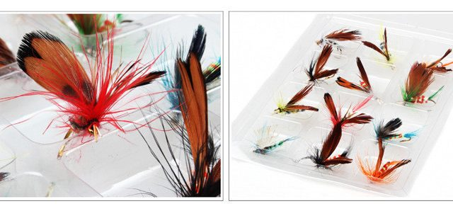Fly fishing lures 36 pcs on sale – great for trout, bass and other fishing
