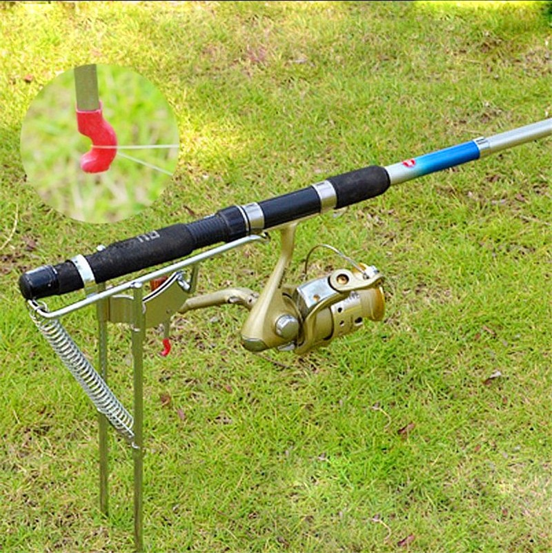 Fishing rod holder auto fishing rod pull stainless for Automatic fishing pole