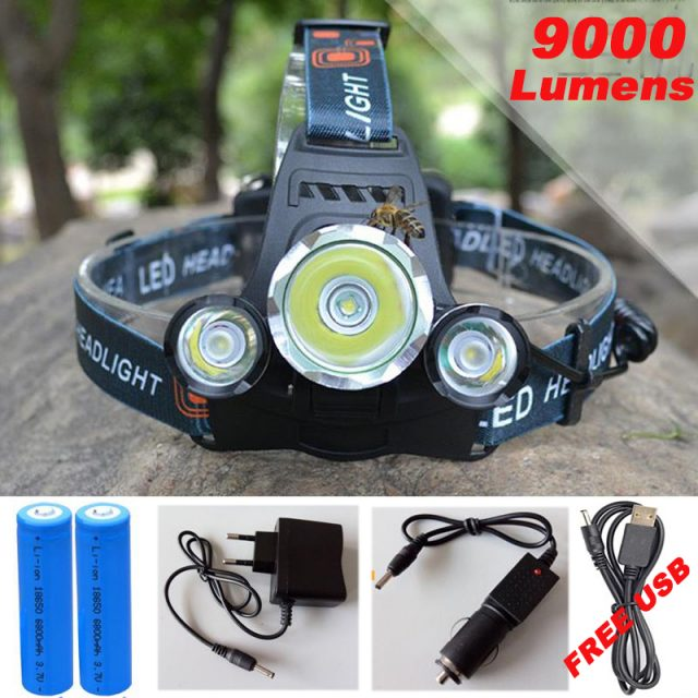 Fishing Light LED Head Lamp | 4 modes | Battery and Charger Included