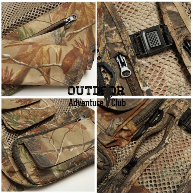 Fly Fishing Vest   Breathable and Camouflage Fishing, Hunting Jackets