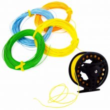 Fly Fishing rod reel combo bonus offer fishing line, dry flies