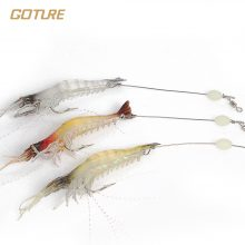 Shrimp Fishing Lure 5pcs |  Luminous Silicone Soft Bait  | Artificial Shrimp Lures