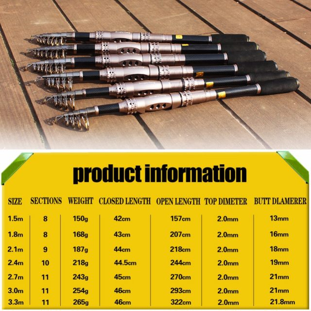 Telescopic Spinning Fishing Rod | Strong Spinning Fishing Rod