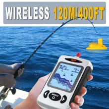 Wireless Fish Finder | Portable Fish Finder with Alarm | 400 FT Range