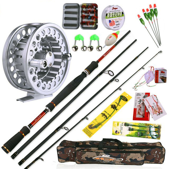 Fly Fishing gear combo includes rod, reel, line, dry fly and more – Super Deal