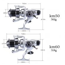 Spinning Fishing Reel Double Drag Metal Spool