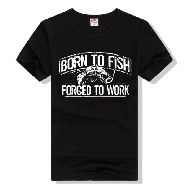 Fishing T-shirts | Comfortable Cotton T-shirt |  Born To Fish Forced to Work