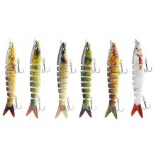Swimbait Fishing Lures | 6 parts artificial fishing lure