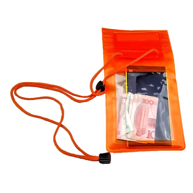 Clear Waterproof Pouch | Mobile phone, money clear bag