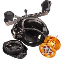 Baitcasting Fishing Reel 9+1BB 6.3:1 Right/Left Hand 210g Round Baitcast Reels Molinete Peche Carretilha Carretes Pesca