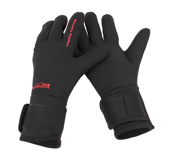 ice fishing gloves waterproof anti slip fishing gloves