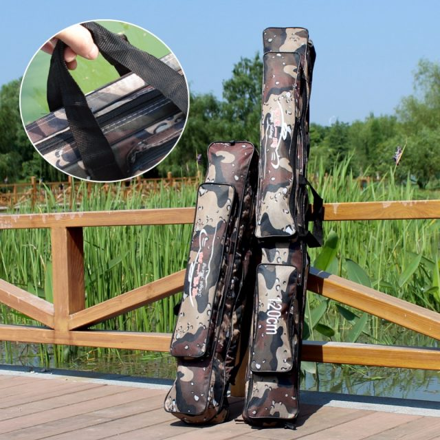 Fishing Rod Bag  – Camouflage Double Layer Fishing Bag 80-120 cm