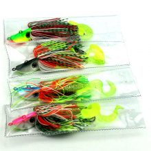 Jig head soft fishing lures | buzzbaits for Bass fishing – 4pcs
