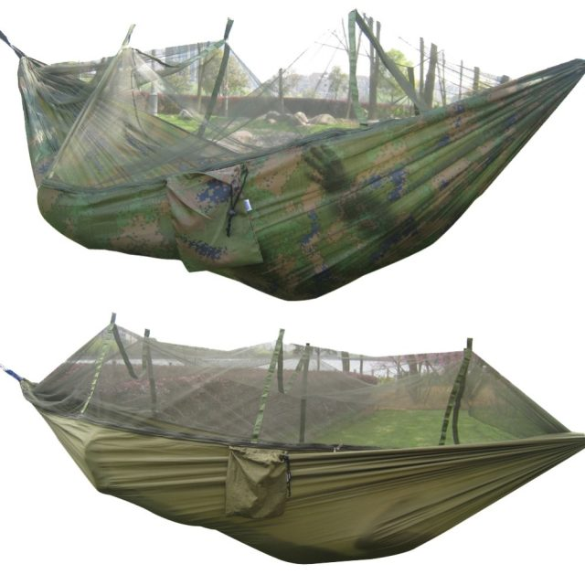Mosquito Net Hammock – Detachable Net – Strong Parachute Fabric