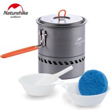 Naturehike 2-3 Person Non-stick Picnic Pot And Pan Camping Pot Outdoor Kitchenware Tableware  Folding Cookware Travel kits