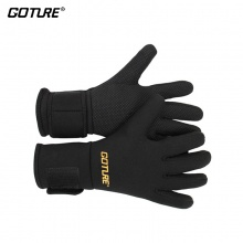 Goture Full Finger Anti-slip Men's Winter Fishing Gloves Black Waterproof Non-slip Outdoor Cycling Gloves D30