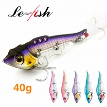 Le-Fish VIB fishing lure spoon lure metal bait 40g 89mm Spinner baits China fishing tackle with BKK hook