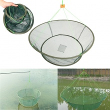 Bobing Foldable Fishing Net Prawn Bait Minnow Crab Shrimp Drop Harbour Pond Mesh Pesca Fishing Tackle Accessories